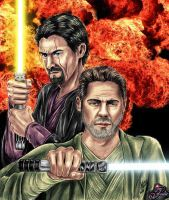 Jedi Corran and Ganner by tallterror