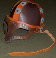 Viking leather helmet by Laerad