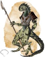 Lizardman Warrior _ Final by Runegoblin
