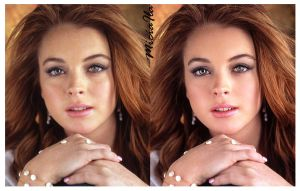 Lindsay Lohan Retouch by Miciaila