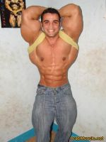 Musclemorphed Arab Hunk20a by free42dream