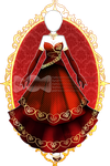 Lovely Red Dress R96 (OPEN) by RumCandyAdopt