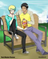 collab - At The Park by Yaoi-Master-Forever