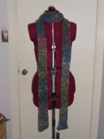 Ribbed Knit Multi Skinny Scarf by Dye-Another-Day