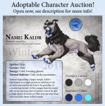 Character Auction - Kaldr by soulofwinter