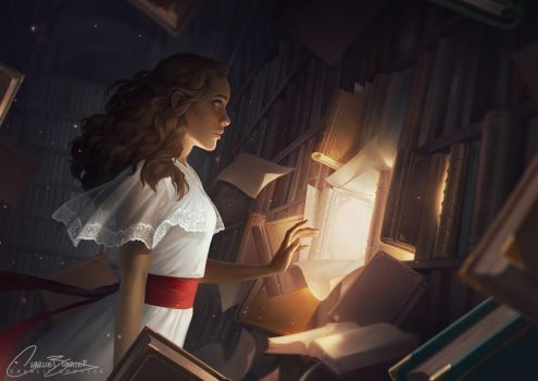 'The Reader by Charlie Bowater by dedsec27