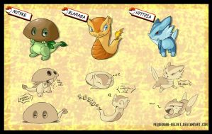 P T-A .:Fakemon starters :.