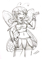 Fairy-Traditional Sketch by TREINOR