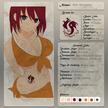 Fairy Tail OC - Ren by RebeccaProductions