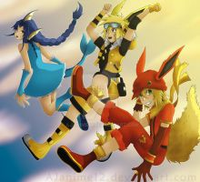Leaping Through the Sky III by AJanime12