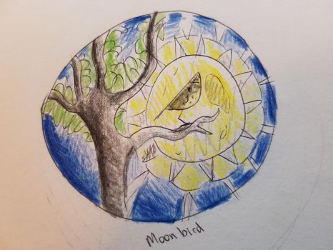 Tattoo concept - Moon bird by femalefred