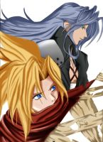 -+Cloud Sephiroth-+ WIP 2 by Banryuunokizu