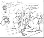 All them dwarves bring the nelfs to their yard by RaptorRia