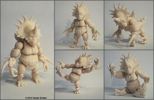 3D printed action figure Steracorilla unpainted by hauke3000