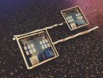 Tardis Hairclips for the Doctor's Companion by Monostache