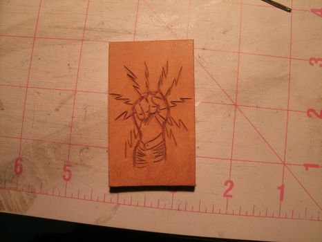 IBEW leather carving practice by Mic-rez