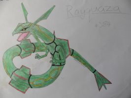 Rayquaza #384 by BlueScarlet77