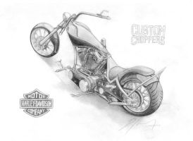 Harley-Davidson Custom Chopper by bencizdim
