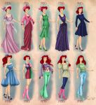 Ariel in 20th century fashion by BasakTinli