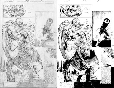 Silvestri X-Men pages by TimTownsend