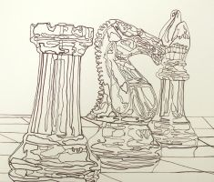 Contour Chess Pieces by iamlaw123