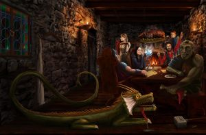 Tavern cover for Spoon and Fork by Erebus-art