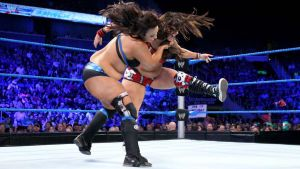 AJ Lee, Layla Fat Smackdown by cahabent