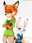 Nick and Judy - Zootopia by SimpleGuitar