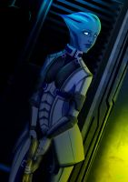 Fan art liara by Tcim-mouton