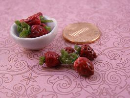 A bowl of strawberries by nyann
