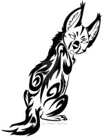 Glancing Serval Tribal Design by Rain-Strive
