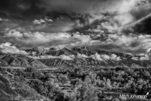 Across the Valley to the Wasatch BW by mjohanson