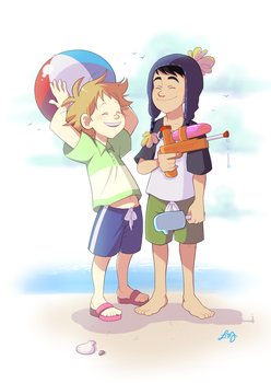 SP: beach by ishimaru-miharu