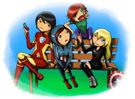 avengers girls - request by mit-7