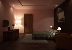 Hotel room Night Scene 2 by aXel-Redfield