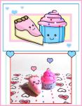 Cake and Cupcake charms by bapity88