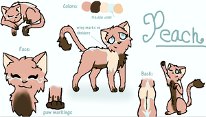 Peach reference sheet by owls1999