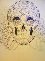 Candy Sugar Skull by andii-pandii