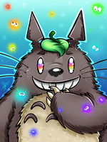 Totoro: Rainbow edition by Blue-Fayt