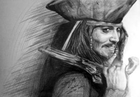 Captain Jack Sparrow by Lacerare