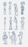 Sketchy Sketches (Characters) by Daniel-McCloskey