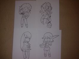 New chibi bookmarks! Work In Progress! by Fly-Sky-High