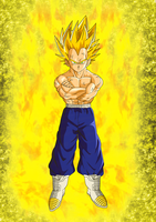 Super Saiyan 2 Vegeta by EliteSaiyanWarrior