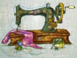 Vintage Singer Sewing Machine by Tishounette