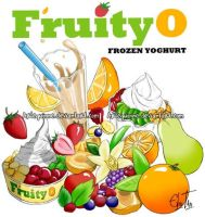FruityO - T-shirt design by Arlequinne