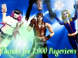 Thanks for 1.000 Pageviews by I-am-Hwoarang