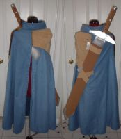 Trowa's cape with sword by silverfaction