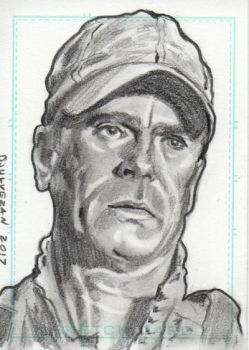 Stargate SG1 Jack O'Neill Sketch Card by boxofcreatures