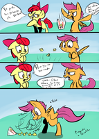 Scootaloo le gustan las palomitas by Spanish-Scoot
