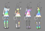 Colorful Outfits #8 - sold by Nahemii-san